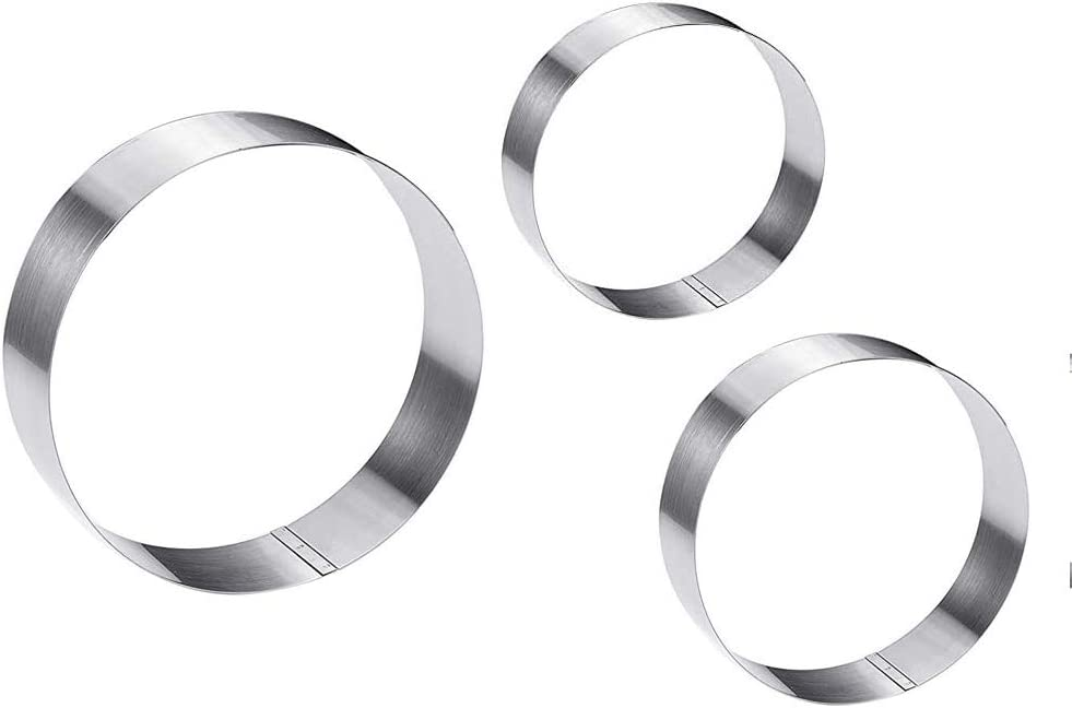 YANTIN Cake Pastry Ring 3 New products, world's highest quality popular! Stainless Steel pcs Round Set 5 popular
