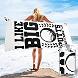 mengmeng Toalla de secado rápido con texto 'I Like Big Putts And I Cannot Lie 3 para deportes, gimnasio, viajes, yoga, camping, natación, súper absorbente, compacta, ligera, toalla de playa