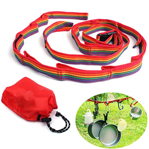 BSTOPSEL Outdoor Camping Lanyard Rope met 13 Loops Camping Tent Accessoires voor Outdoor Travel Hiking Picnic Home Use