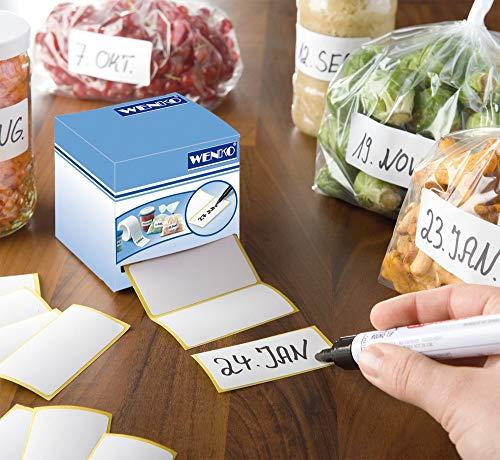 WENKO Haftetiketten 500 Stück, mit Dispenser Etiketten auf Rolle