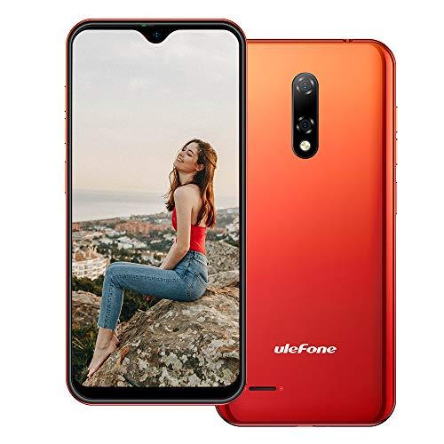 Ulefone Note 8P Android 10 Smartphone ohne Vertrag Günstig, 5,5' 4G LTE Handy, 2GB+16GB, DUAL SIM + SD (3 Kartensteckplätze), Gesichtsentsperrung, 8MP+2MP+5MP, GPS Rot