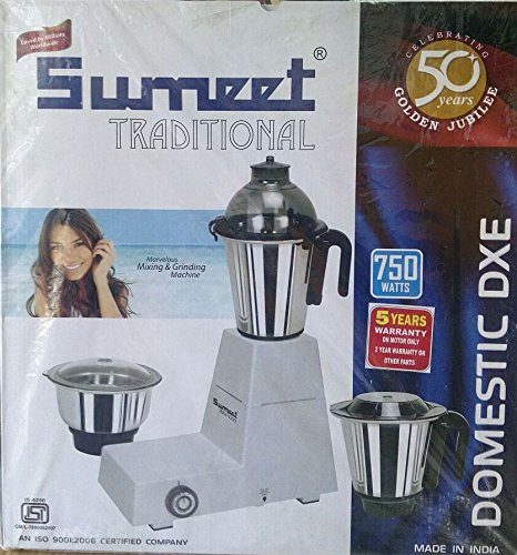 SUMEET TRADITIONAL DOMESTIC DXE PLUS (750 W) Grinder Wet Grinder Spice Grinder Mixer by Sumeet