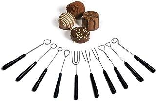 yyuezhi 10 Pièces Fourchette à Chocolat Chocolat Fourchette Fourche À Fromage Fourchette à Tremper au Chocolat Fourchette ...