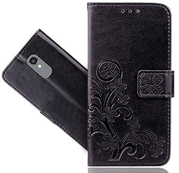 BLU VIVO 5R Case FoneExpert Premium Leather Flower Kickstand Flip Wallet Bag Case Cover for BLU VIVO 5R