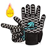 MLMLANT Oven Gloves Grilling Gloves, BBQ Gloves Extreme Heat Resistant High up to