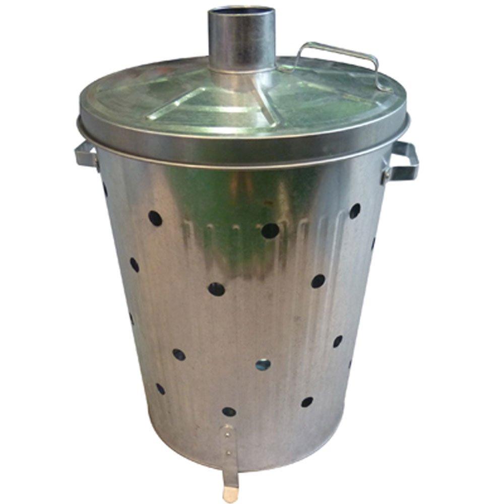 Harewood – Incinerador de Metal galvanizado – Quemador de Hojas y residuos de jardín – 75 l: Amazon.es: Jardín