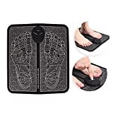 Foot Massager Machine Electric EMS Foot Massage Pad Feet Acupuncture Stimulator Massager Improves Circulation Relax Stiffness Muscles Relieve Feet and Legs Pain(Battery Type)