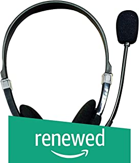 (Renewed) Adcom AHP-301 Over Ear Gaming Basic Headphone with Mic (Black)
