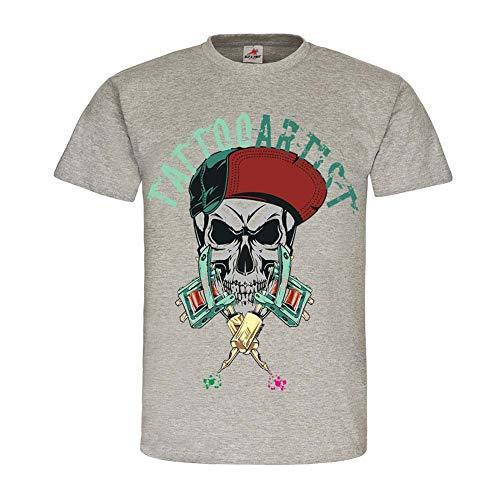 Tattoo Artist kunst tattoo stijl skull cap pinup wear kleding shirt # 24744