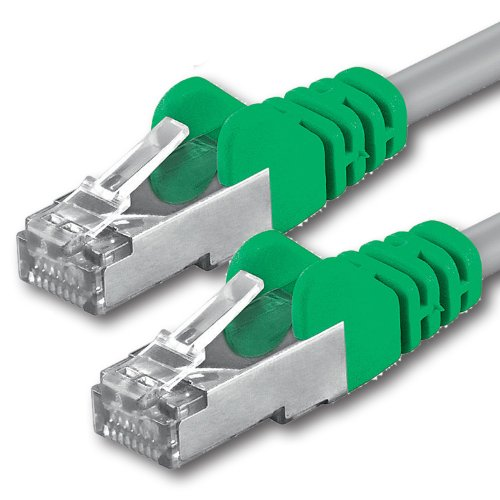 2m - Crossover CAT.5 CAT5 Netzwerkkabel Ethernetkabel Internet DSL Kabel Patchkabel CAT 5 kompatibel zu CAT.6 CAT.6a CAT.7 Smart TV Spielkonsole Mediaplayer Switch Router Modem Patchpannel Access Point Patchfeld