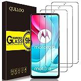 QULLOO Protector de Pantalla para Motorola Moto G60 [3 Piezas], 9H HD Alta Sensibilidad Cristal Templado para Motorola Moto G60