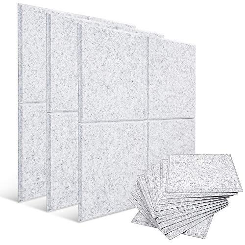 Paneles acústicos 12 unidades de paneles de absorción de sonido de alta densidad, insonorización, ideal para decoración de pared y tratamiento acústico utilizado (30 x 30 x 1 cm)