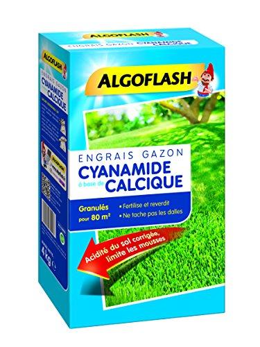 ALGOFLASH Engrais Gazon Cyanamide Calcique, Jusqu'à 80m², 4 kg, ECYA M80