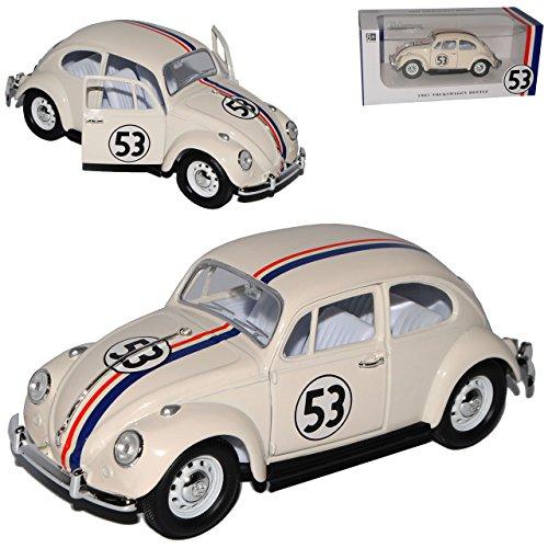 Lucky Die Cast Volkwagen Käfer Herbie Nr 53 The Love Bug 1962 1/24 Yatming Modell Auto