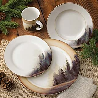 misty forest dinnerware