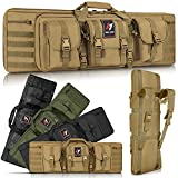 LUXHMOX Double Long Soft Rifle Case, American Classic Outdoor Tactical Carbine Rifle Bag & Multi-Function Long Gun Case, Perfect for Hunting Shooting Range Storage, Transportation-42''
