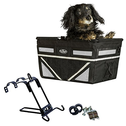 Travelin K9 Pet-Pilot MAX Dog Bicycle Basket Carrier | 8 Color Options for Your Bike (Silver)