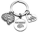 Psychologist Keychain, Child Psychologist Keychain, Psychology, Psych Student Gift, Human Brain Keychain, Faith Hope Love Keychain, Doctor Gift, Neurologist Gift, Psychologist Key Ring