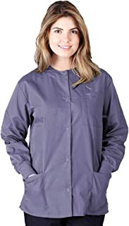 Natural Uniforms Women's Warm Up Jacket Medical Scrub Jacket (XS to 5XL) (X-Small, Charcoal)
