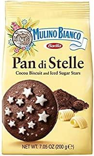Mulino Bianco Pan Di Stelle Cocoa Biscuits With Sugar Stars, chocolate, 21.15 Ounce