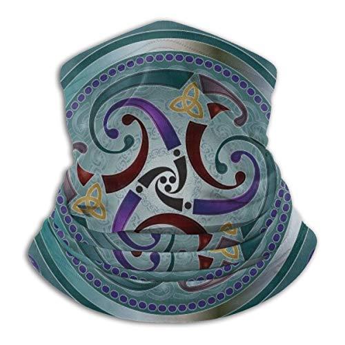 Celtic Wicca Irish Wiccan Multifunctional Neck Gaiter Warmer Windproof Mask Dust Sports Face Mask Half Balaclava Ski Mask Cold Weather Bandana Women Men Outdoors Festivals Unisex Adult