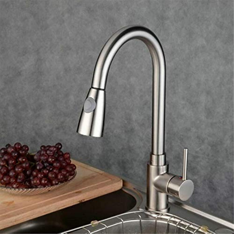 Wasserhahn Vintage überzogene Mischerhahn Mixer Kitchen Sink Taps Einloch Edelstahl Einhebel Pull Out Nickel Gebürstet Pull Down Hot & Cold Armaturen