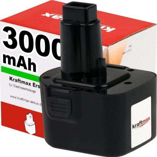 Kraftmax krachtige accu voor DEWALT DE9037-12V / 3000mAh / Ni-MH - professionele kwaliteit met verse, hoogwaardige merkcellen