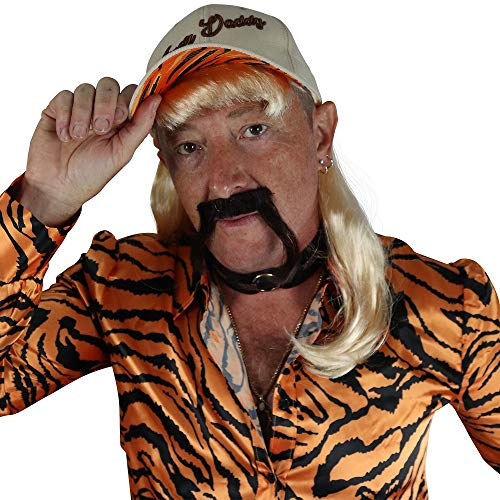 Jerry Leigh Exotic Tiger Lover Halloween Costume Accessory Kit for Adults, Includes Hat, Wig, Choker, Rings, Ear Cuff