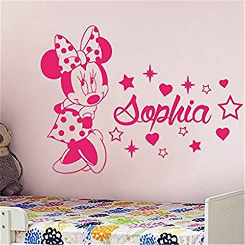 adesivo da parete Mickey Decal Mickey Mouse Wall Stickers Creative Minnie Personalizzato Nome bambini Baby per bambini Camere Decorazione della casa