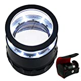 10x with 25mm with LED, Focused Eye Loupe Jewelry Magnifiers for Gems, Hobbies
