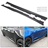 ECOTRIC For 2016 Up Camaro RS & SS   ZL1 Style PRIMER BLACK Side Skirts Panel Extension New