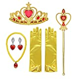 Orgrimmar Princess Dress Up accessories For Belle Gloves Princess Tiara Crown Wand Necklaces For Kids