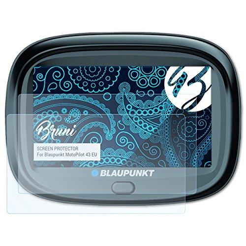 Bruni Schutzfolie kompatibel mit Blaupunkt MotoPilot 43 EU Folie, glasklare Displayschutzfolie (2X)