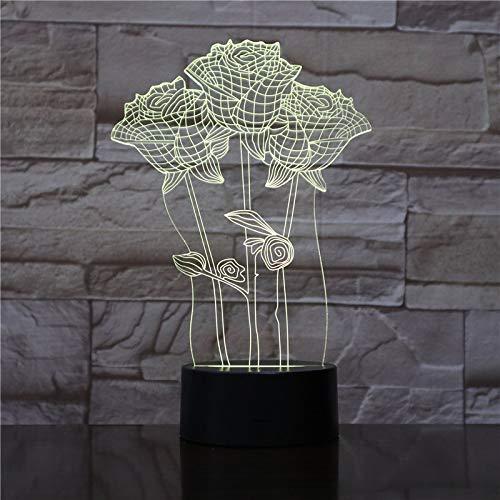 Publikum 3D Leuchttisch Schlafzimmer Action Figure Dekorative Lichter 7 Farbwechsel LED Nachtlichter Wohnkultur