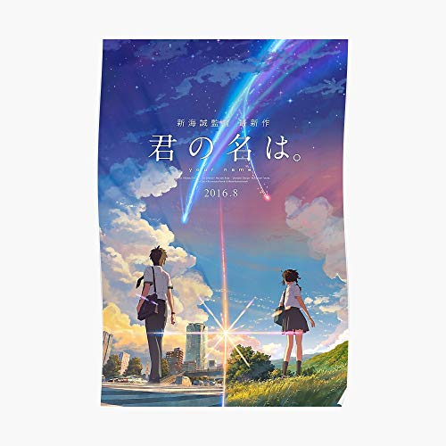 Kimi No Na Wa // Your Name Anime Movie Poster Best Res Poster Small (15.5 x 23.2 in) | Posters Wall Art for College University Dorms, Blank Walls, Bedrooms | Gift Great Cool Trendy Artsy Fun Awesom
