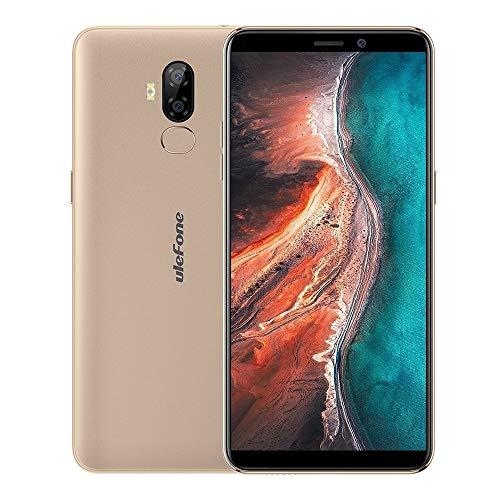 Teléfono móvil Cámaras duales traseras, identificación de Rostro e identificación de Huellas Dactilares, 6.0 Pulgadas Android 9.0 MTK6739WW Quadcore de 64 bits hasta 1.5 GHz, Red: 4G, Dual SIM, OTG