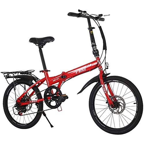 Read About LQRYJDZ 20-Inch Folding Speed Bicycle,shockabsorption,Student Folding Bike for Men and Wo...
