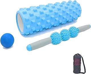 BFORS Fitness Shaft Spike Shaft, Beginners Relax Yoga Stick Deep Foam Massage Roller Muscle Spike Stick Set,B,45cm