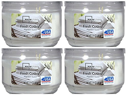 Mainstays 11.5oz Scented Candle, Fresh Cotton 4-Pack