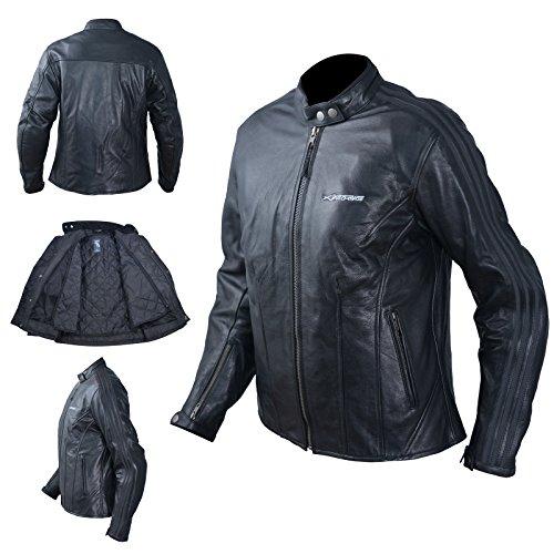 A-Pro Motorradjacke Damen Chopperjacke Leder CE Protektoren Thermic S
