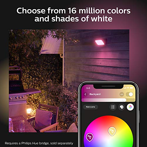 Philips Hue Discover Outdoor White & Color Ambiance Smart Floodlight (Hue Hub Required, Smart Light Works with Alexa, Apple Homekit and Google Assistant)