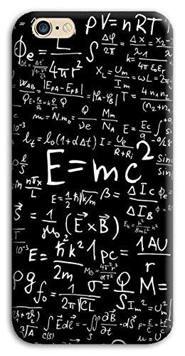 Mixroom - Cover Custodia Back Case in TPU Silicone Morbido per Apple iPhone 6 6s Fantasia Formule Algebriche di Matematica M745