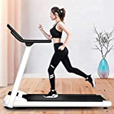 ROYWY Tapis de Course Pliant,Fitness Bureau Domicile,Tapis de Marche Electrique 1-10 km/h,Facile à Déplacer et à Ranger,Salle De Sport Silencieuse et Confortable