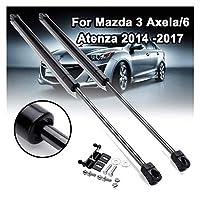 フードダンパ ためにマツダ3アクセラ/ 6アテンザ2014-2017用オートガススプリングストラットリフトダンパーをサポートするカーフードショックダンパーエンジンカバー フロントフードボンネット