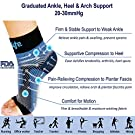 Dowellife Plantar Fasciitis Socks, Ankle Brace Compression Support Sleeves & Arch Support, Foot Compression Sleeves, Ease Swelling, Achilles Tendonitis, Heel Spurs for Men & Women (Black M) #1