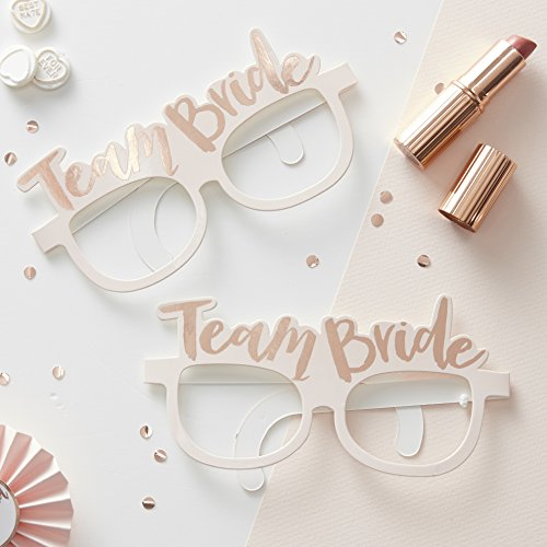 Ginger Ray Hen Party Team Bride 8 Stück, rose gold