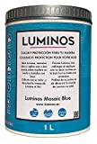 Luminos LUM1104 - MOSAIC BLUE - Lasur Bio al Agua Protector para Madera Exterior - Azul Mosaico 2.5L