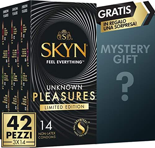 SKYN Unknown Pleasure, selección de preservativos sin látex de lujo, paquete de 42 más un precioso regalo para ti
