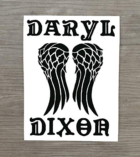 HSS180 Vinyl-Aufkleber, Motiv: The Walking Dead, inspiriert von Daryl Dixon, für Auto oder Zuhause, klein, 11 x 8 cm