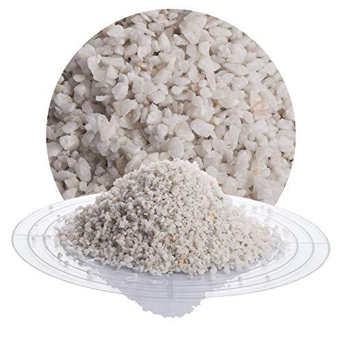 25 kg Marmor Fugensplitt weiß in 1-3 mm von Schicker Mineral, witterungsbeständiger und streusalzresistenter Naturstein für Pflasterfugen